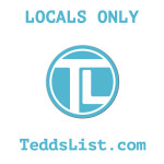 Locals Only teddslist.com Decal
