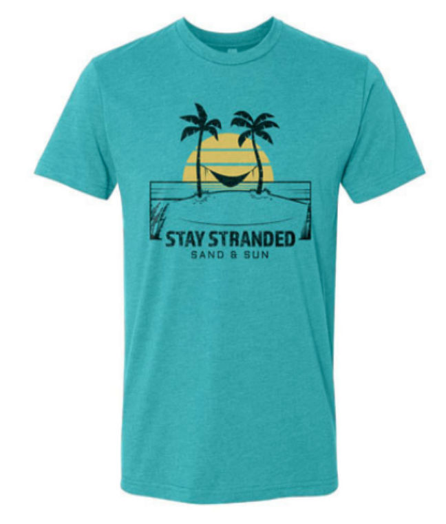 Stay Stranded Sand and Sun Shirt Blue